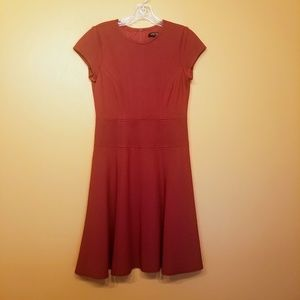 Nanette Lepore | Maroon Fit & Flare Dress (Size 6)